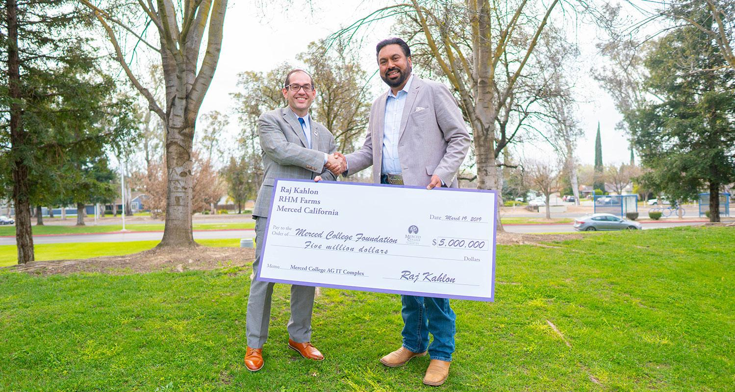 Largest Gift in Merced College History