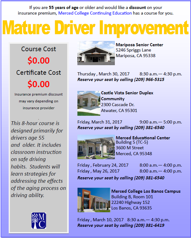 For more information, call (209) 381-6540