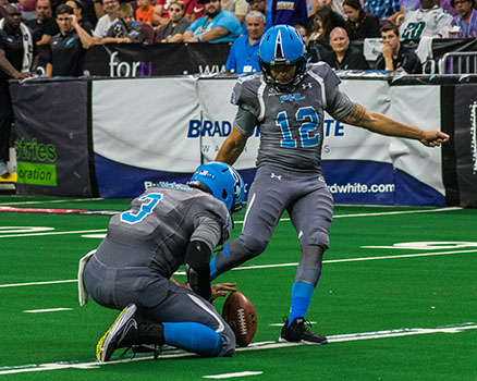 Football Alum Trevino Named AFL Kicker of the Year