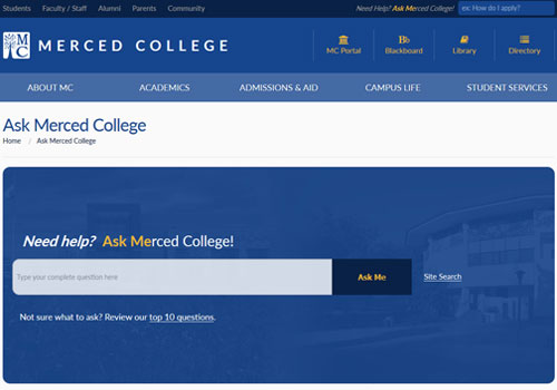 New Tool for Students: Ask Merced College