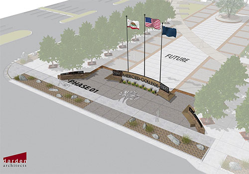 October 17 flag raising will celebrate the end of first phase of Merced College campus entry makeover
