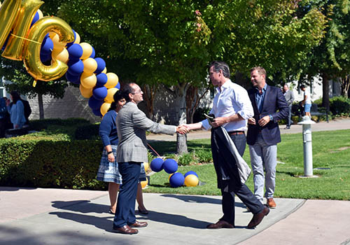 Lt. Governor Newsom Tours Merced College
