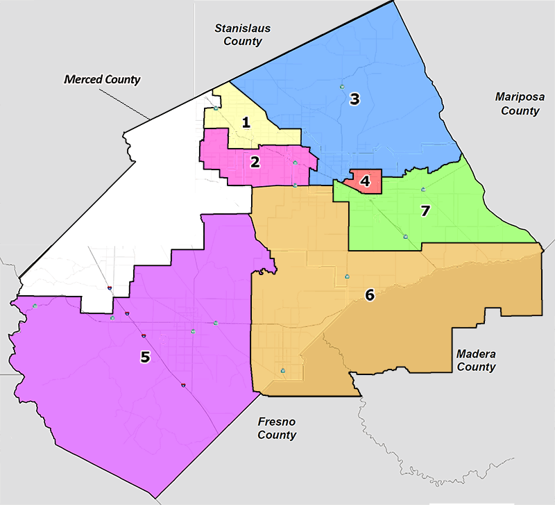 Merced College District Maps