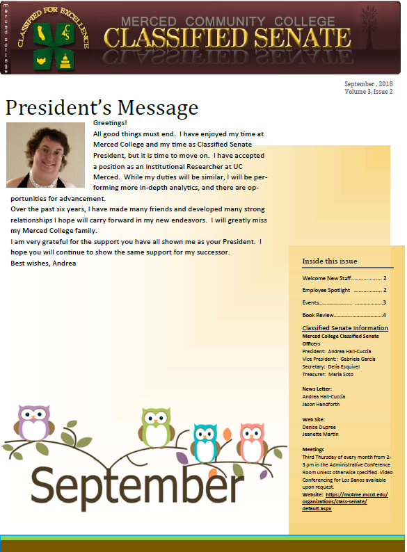 merced college newsletter