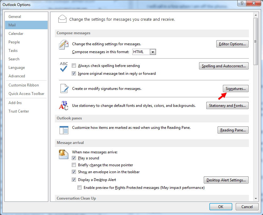 How to image - Outlook screenshot