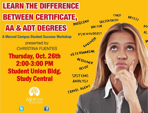 Flyer - Learn the Difference Between Certificate, AA and ADT degrees