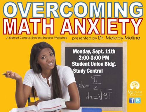 Flyer - Overcoming Math Anxiety