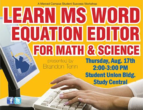 Learn MS Word Equation Editor